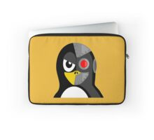 Cyborg Penguin Artwork for Blackhats and Geniuses Laptop Sleeve