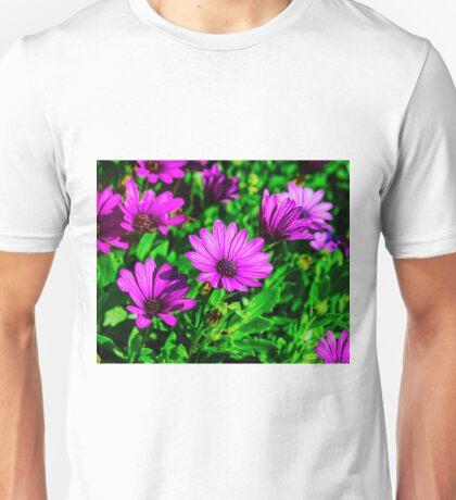 Enhanced Purple Flowers Unisex T-Shirt