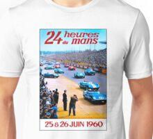 DU MANS; Vintage Auto Racing Advertising Print Unisex T-Shirt