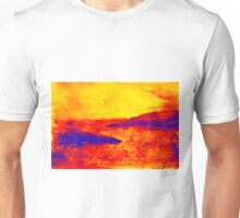 Watercolor of sunset at the sea Unisex T-Shirt