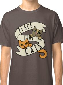 Peace Love Cats Classic T-Shirt