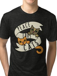 Peace Love Cats Tri-blend T-Shirt