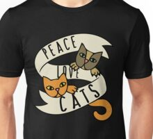 Peace Love Cats Unisex T-Shirt