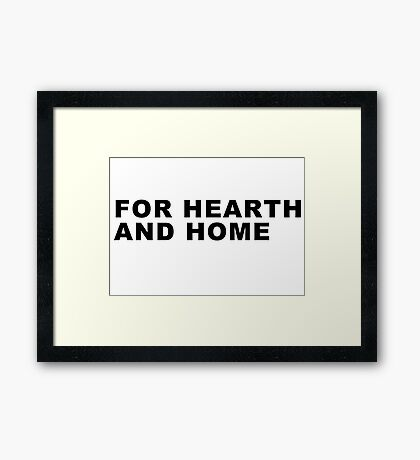 For Hearth and Home - Final Fantasy XV Framed Print