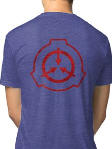 SCP foundation symbol red  Tri-blend T-Shirt
