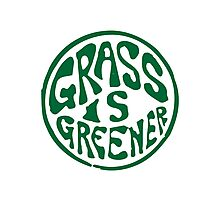 Grass is Greener Green Photographic Print