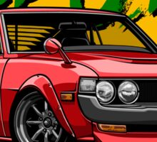 True JDM. Toyota Celica 70-77 (red) Sticker