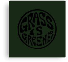Grass is Greener Black Canvas Print