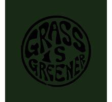 Grass is Greener Black Photographic Print
