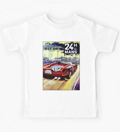 DU MANS; Vintage Auto Racing Advertising Print Kids Tee