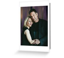 Gillian Anderson and David Duchovny oil color painting  Greeting Card