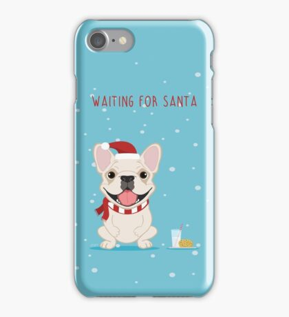Frenchie Waiting for Santa - Cream Edition iPhone Case/Skin