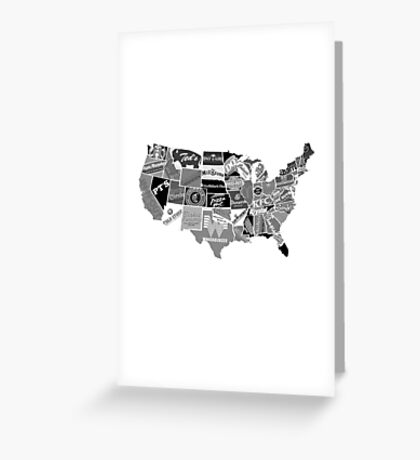 Fastfood national day states icons Greeting Card