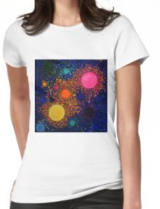Genesis, abstract art Womens Fitted T-Shirt