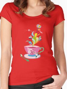 It's always teatime Women's Fitted Scoop T-Shirt