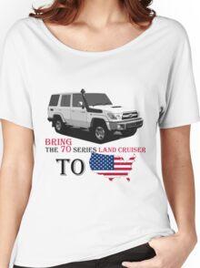 TOYOTA 70 Series Land Cruiser Women's Relaxed Fit T-Shirt
