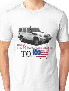 TOYOTA 70 Series Land Cruiser Unisex T-Shirt