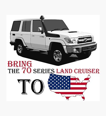 TOYOTA 70 Series Land Cruiser Photographic Print