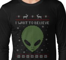 alien ugly sweater Long Sleeve T-Shirt