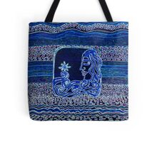 Into the waves she goes by Nikki Ellina Tote Bag