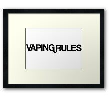 vaping smoking smoker tobacco smoke weed cannabis t shirts Framed Print