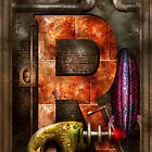 Steampunk - Alphabet - R is for Ray Gun by Mike  Savad