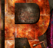 Steampunk - Alphabet - R is for Ray Gun Sticker