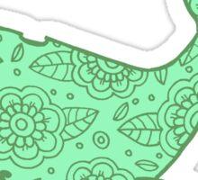 whale ii green ii  Sticker