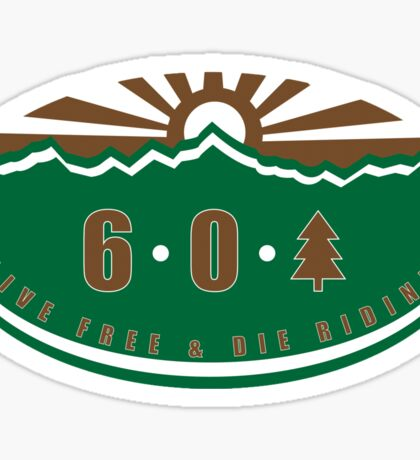 6 0 tree Sticker