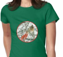 redbird with red ring Womens Fitted T-Shirt