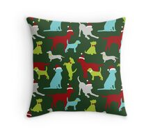 Merry Barkmas! Throw Pillow