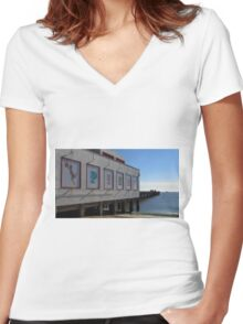 Felixstowe Pier, 5th October 2014 Women's Fitted V-Neck T-Shirt
