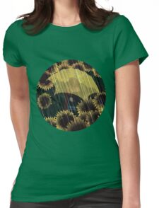 Rainflowers (transparent) Womens Fitted T-Shirt