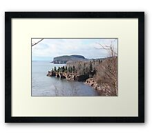 Palisade Head & Lake Superior Caves Framed Print