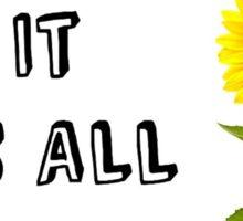 Yellow (Coldplay Lyrics) Sticker