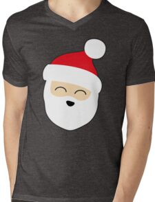 Smiling Santa Mens V-Neck T-Shirt