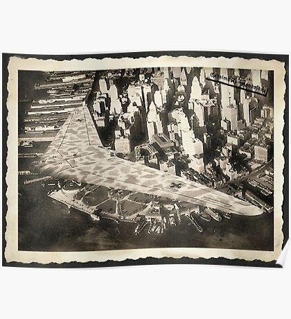 Horten Ho XVIII A over Manhattan 1946 Poster