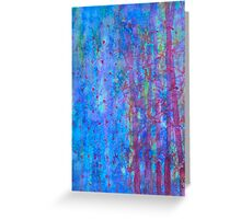 Blue evening Greeting Card
