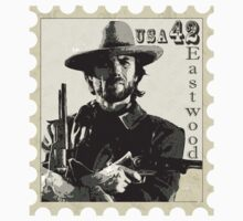 Clint Eastwood Stamp Design One Piece - Short Sleeve