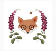 Fox with Foxgloves Kids Tee