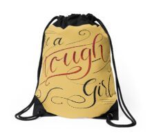 Touch Girl - Lettering Design  Drawstring Bag