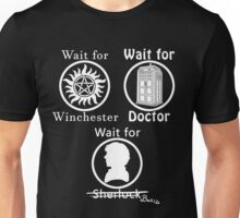 SuperWhoLock - White Unisex T-Shirt