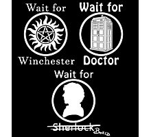 SuperWhoLock - White Photographic Print