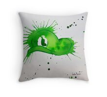 Mario Luigi Watercolor Splash Hat Abstract Artwork Throw Pillow