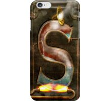 Steampunk - Alphabet - S is for Steam iPhone Case/Skin