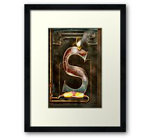 Steampunk - Alphabet - S is for Steam Framed Print