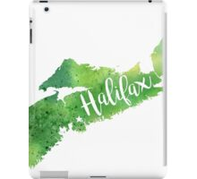 Nova Scotia Watercolor Map - Halifax Hand Lettering  iPad Case/Skin