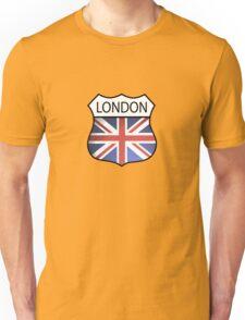 A London Souvenir with the Union Jack. Unisex T-Shirt