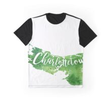 Prince Edward Island Watercolor Map - Charlottetown Hand Lettering - Giclee Print of Original Art Graphic T-Shirt