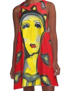 New Orleans Ladies A-Line Dress